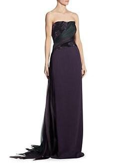 Pamella Roland - Strapless Bustier Gown c8c5ba7fd