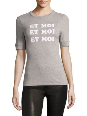 Et Moi Fitted Ringer T-Shirt by FRAME