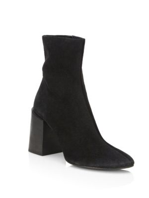 Saul Reverse Suede Ankle Boots In Black
