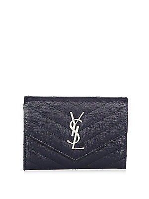 official photos 0e43e 07503 Saint Laurent - Monogram Passport Case With Silver Hardware - saks.com