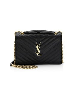 ef2bd0fcb7 Saint Laurent. Medium Monogram Leather Envelope Chain Shoulder Bag