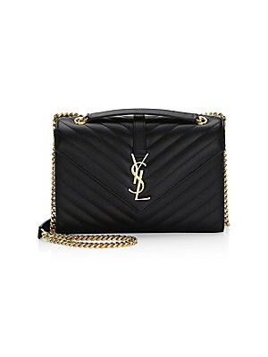 b9d059618 Saint Laurent - Medium Monogram Matelassé Leather Envelope Shoulder Bag -  saks.com