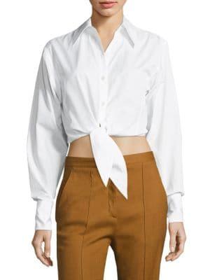 Tie-Front Cropped Shirt by Diane von Furstenberg