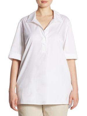 Daley Blouse by Lafayette 148 New York, Plus Size