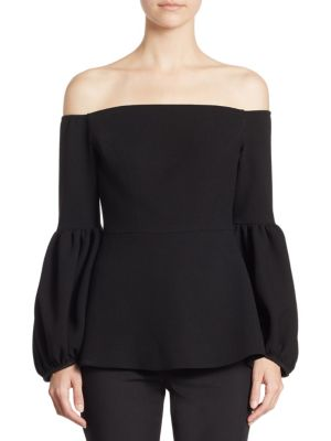 Off-the-Shoulder Wool Top by Lela Rose