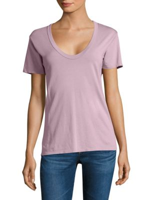 Hensen V-neck Cotton Tee by AG
