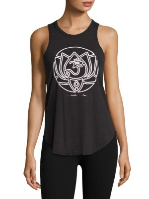 Om Lotus Tank by Spiritual Gangster
