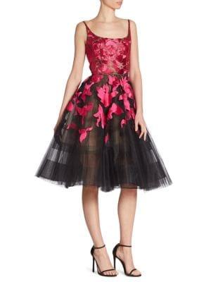 Buy Oscar de la Renta Tulle Floral Dress online with Australia wide shipping