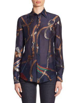 Silk Button-Up Shirt by Ralph Lauren Collection