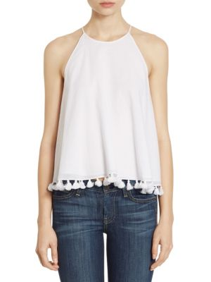 Lindsay Tassel Halter Top by Tory Burch