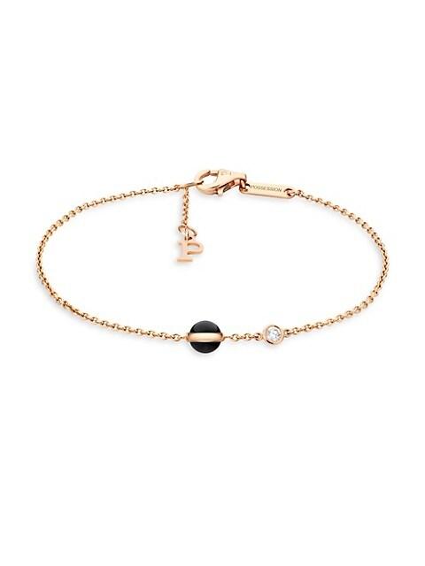 Piaget Possession 18K Rose Gold, Black Onyx & Diamond Bracelet