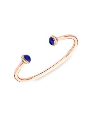 Possession 18-Karat Rose Gold, Lapis Lazuli And Diamond Cuff