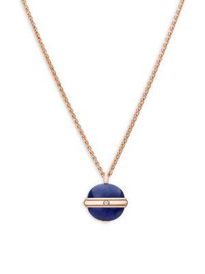Piaget Possession Diamond, Lapis Lazuli & 18K Rose Gold Pendant Necklace