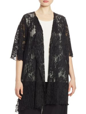 Pleated Lace Cardigan by Caroline Rose