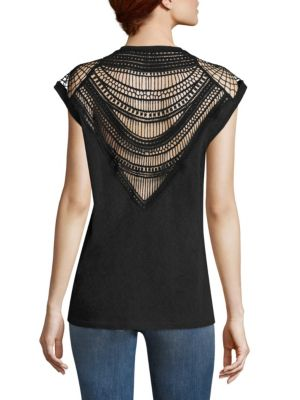 Cedars Crochet Back Tee by IRO