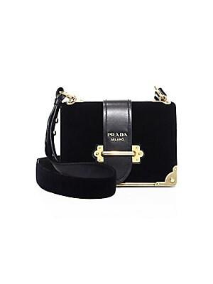 Prada - Cahier Velvet Shoulder Bag 798963156c