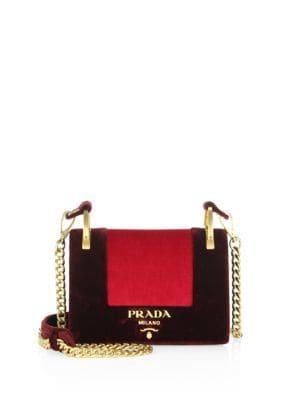 Velvet Chain Shoulder Bag by Prada