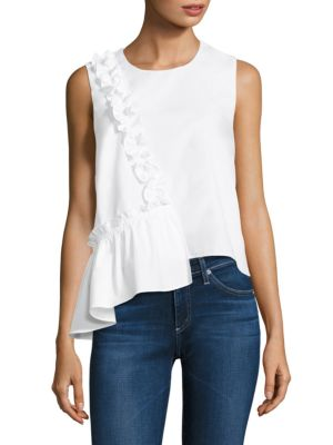 Berry Asymmetrical Ruffled Top by Prose & Poetry
