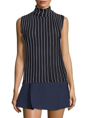 High Neck Rib Knit Top by Carven