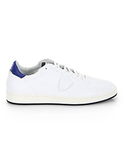 PHILIPPE MODEL - Lakers Leather Low-Top Sneakers