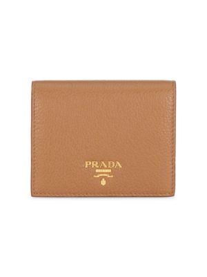 d60bb69e685dfb Prada Bi-Color French Leather Wallet In Caramel Papaya | ModeSens