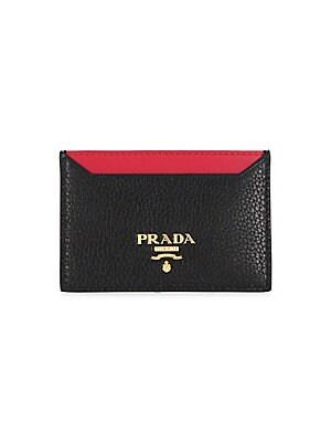 4a39a1a4cc8075 Prada - Metallic Saffiano Leather Chain Wallet - saks.com