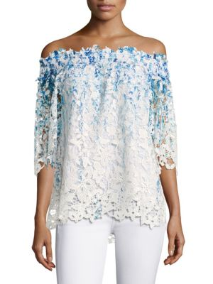 Diana Lace Off-the-Shoulder Top by Elie Tahari