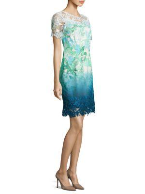 Laced Organdy Mini Dress