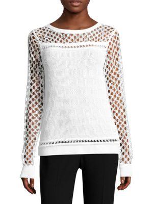 Nadine Cutout Sweater by Elie Tahari