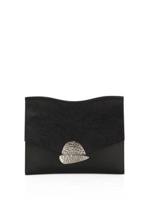 Black Small Curl Chain Clutch Bag