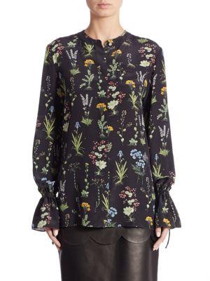 Christina Garden-Print Silk Blouse by Altuzarra