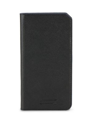 Saffiano Leather Folio Iphone 7+ Case, Black