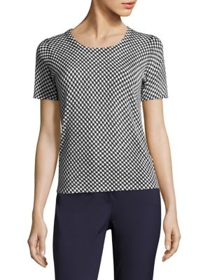 Houndstooth Virgin Wool Tee by Escada