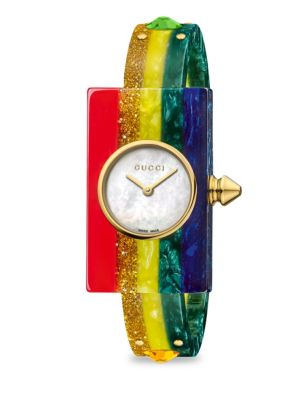 Watch Vintage Web Watch 24X40 Mm Plexiglas Case With Rhinestones, Multi