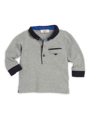 Infant Boys Cotton Spread Collar Polo Shirt