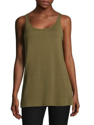 Scoop Neck Tank Top by Eileen Fisher