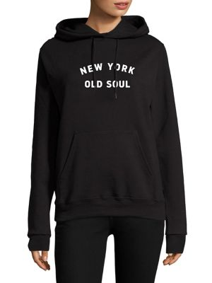 New York Old Soul Hooded Sweatshirt by Knowlita