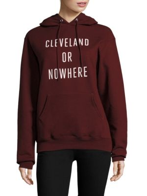 Cleveland or Nowhere Cotton Hoodie by Knowlita