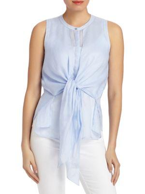 Jennine Tie-Front Blouse by Lafayette 148 New York