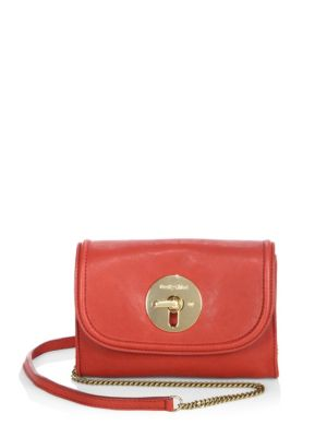 See By ChloÉ Lois Leather Mini Saddle Bag In Lipstick Red  23b46e1760222