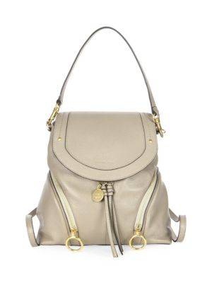 Olga Large Leather Backpack by See By Chloé