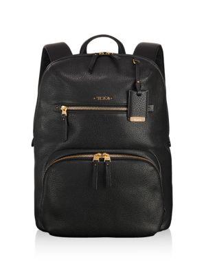 Voyageur Halle Leather Backpack - Black