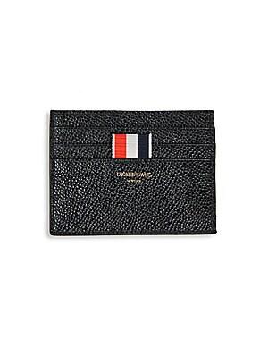 a8e44a8346 Thom Browne - Pebble-Grain Leather Card Holder - saks.com