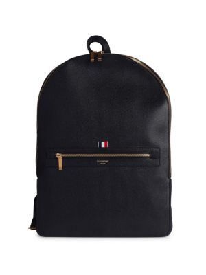 Leather Backpack by Thom Browne