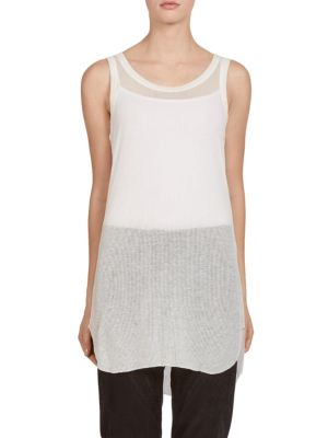 Ribbed Jersey Tank by Ann Demeulemeester