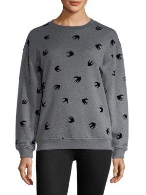 Bird Print Banded Sweatshirt by McQ Alexander McQueen