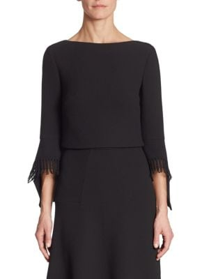 Liverton Wool Bell Sleeves Top by Roland Mouret