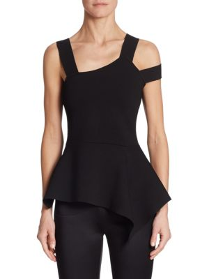 Raysee Knit Cold Shoulder Top by Roland Mouret