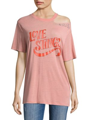 Love Stings Slashed Cotton Tee by Opening Ceremony