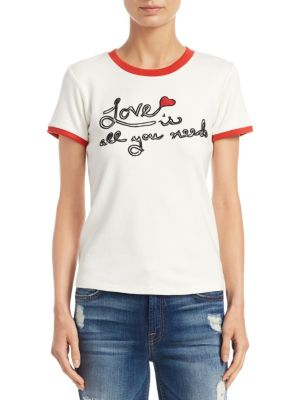 Robin Embroidered Graphic Tee by Alice + Olivia